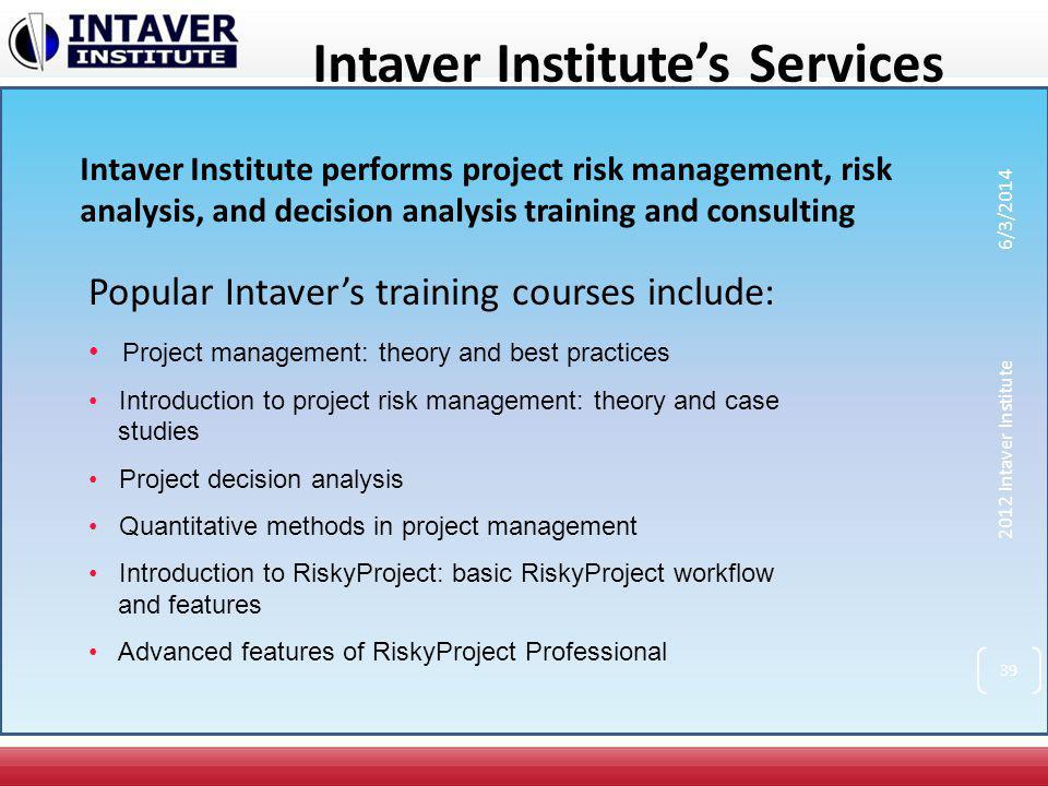 Intaver Institute's Services