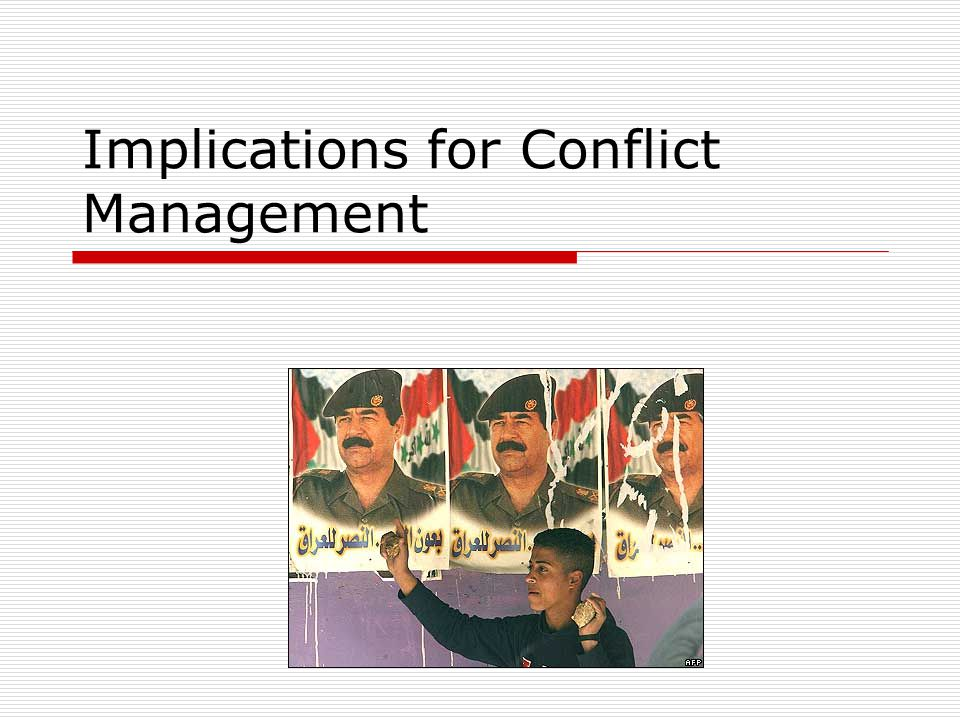 Implications for Conflict Management