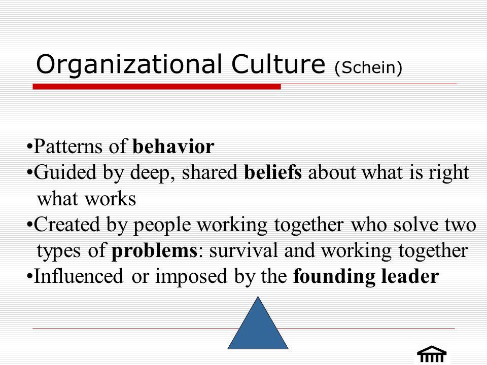 Organizational Culture (Schein)