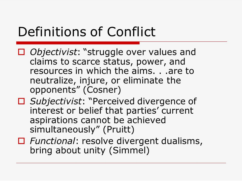 Definitions of Conflict