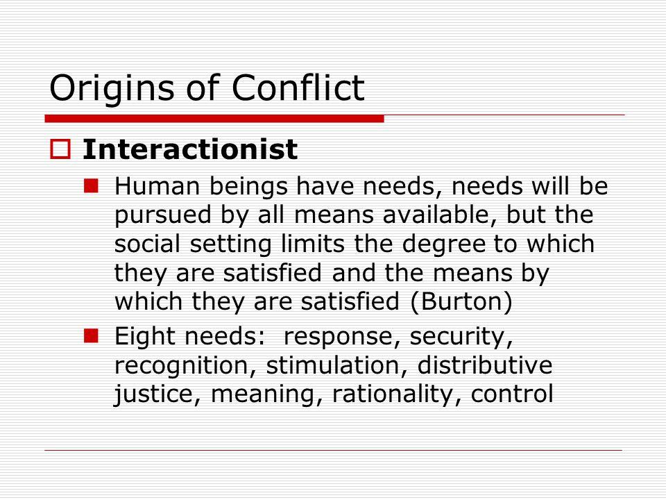 Origins of Conflict Interactionist