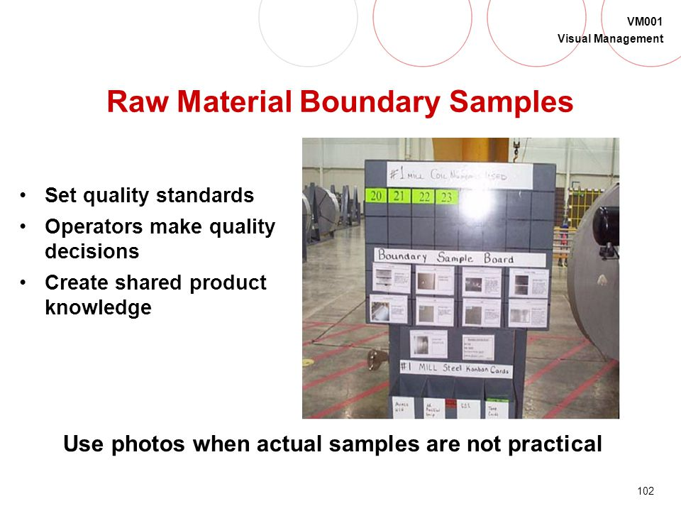 Raw Material Boundary Samples
