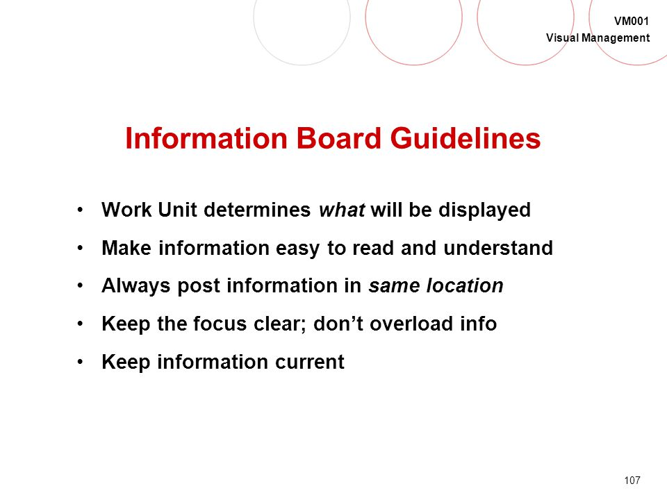Information Board Guidelines
