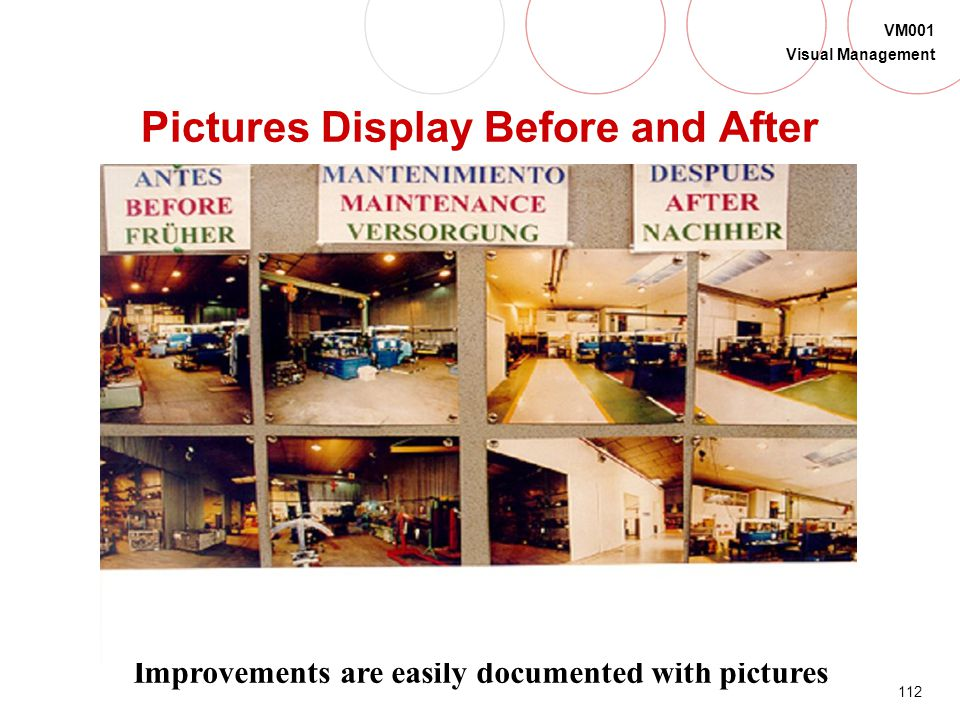 Pictures Display Before and After
