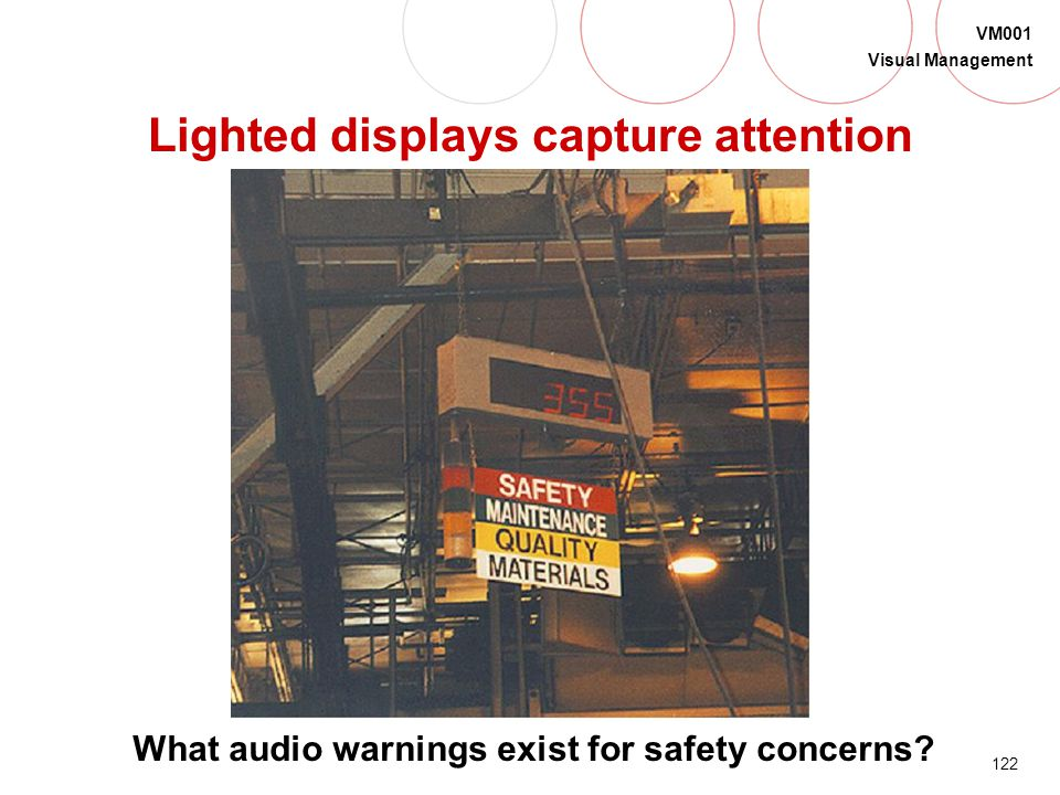 Lighted displays capture attention