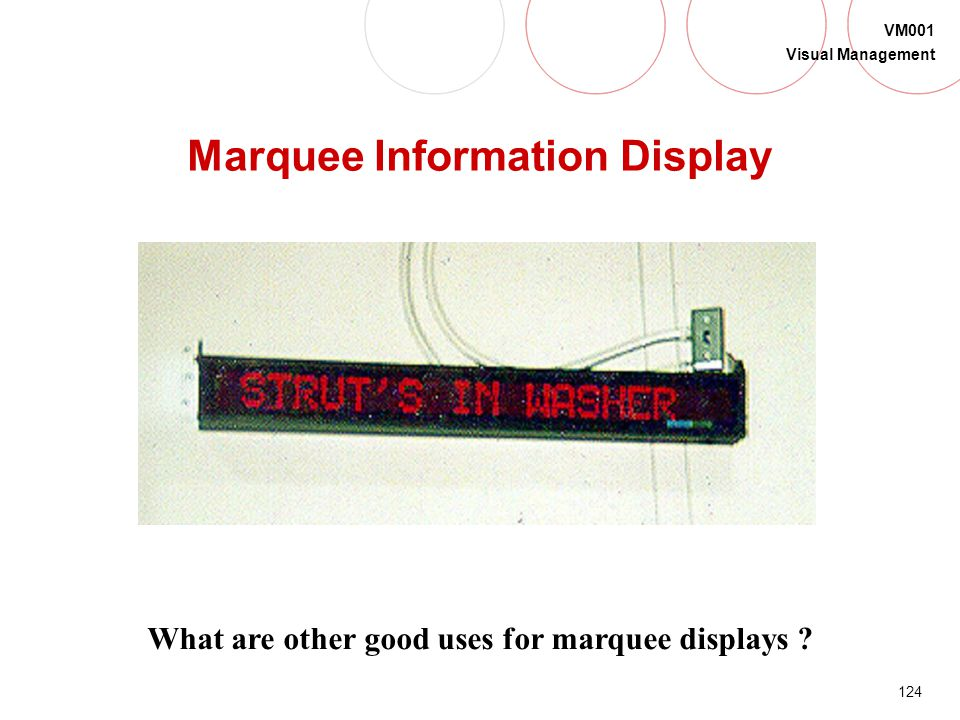Marquee Information Display