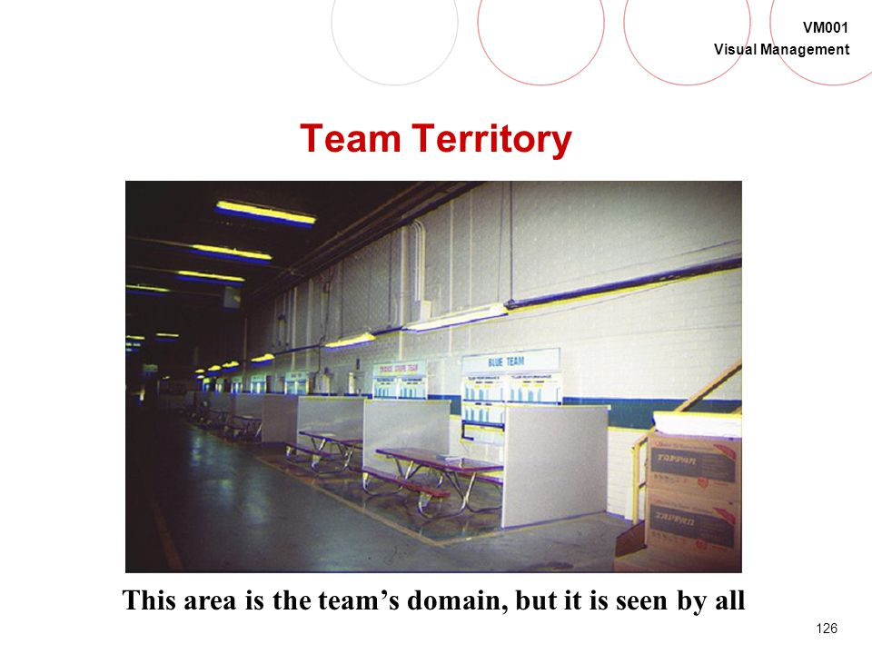 Team Territory This area is the team's domain, but it is seen by all