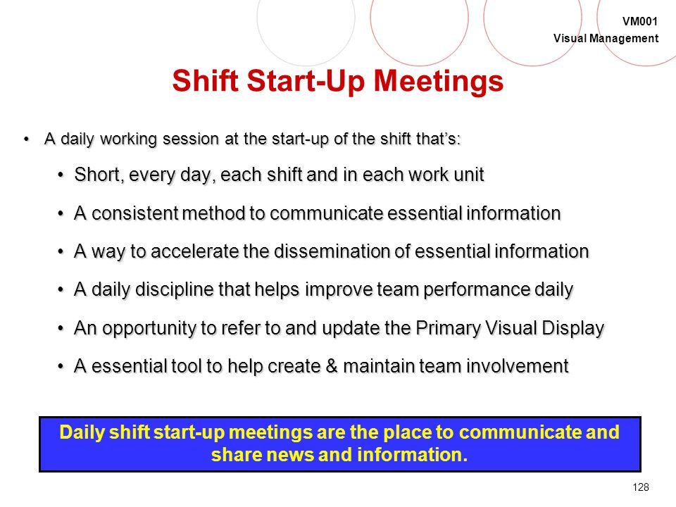 Shift Start-Up Meetings