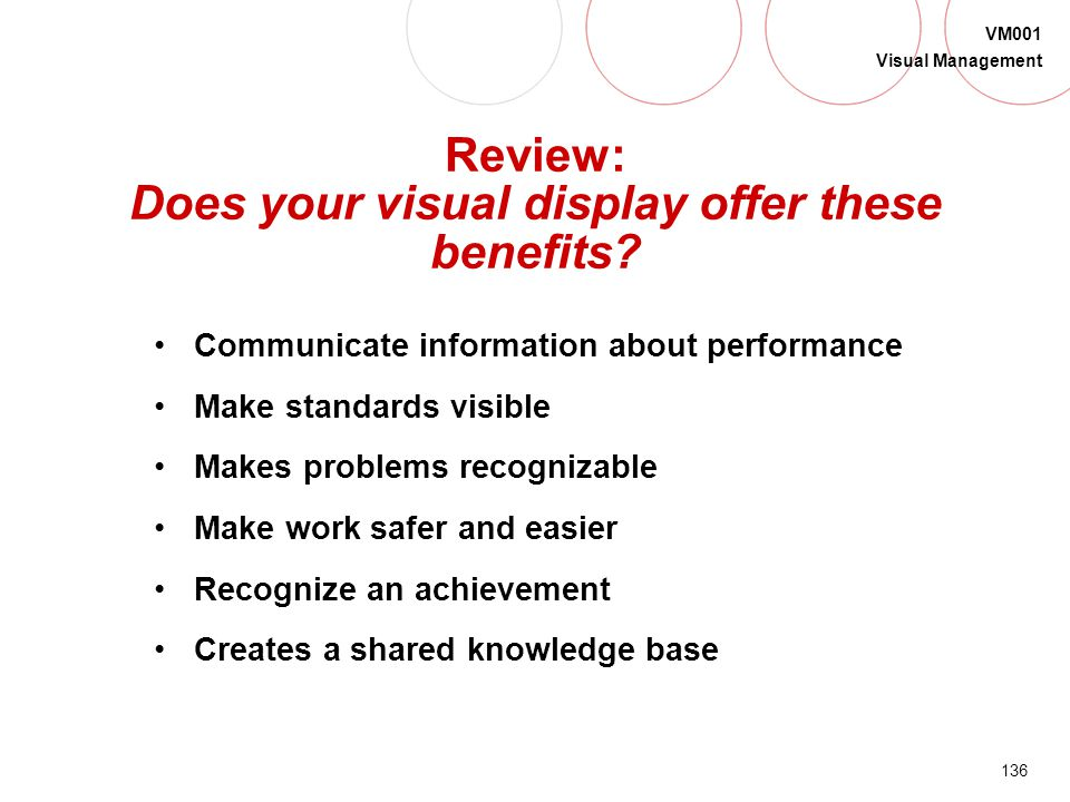 Review: Does your visual display offer these benefits