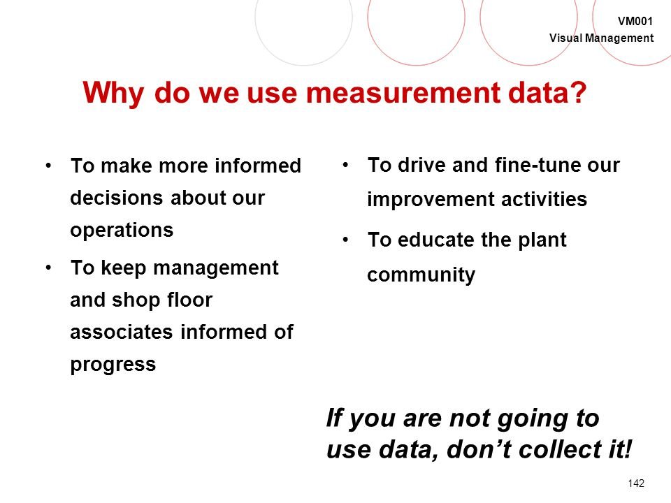 Why do we use measurement data