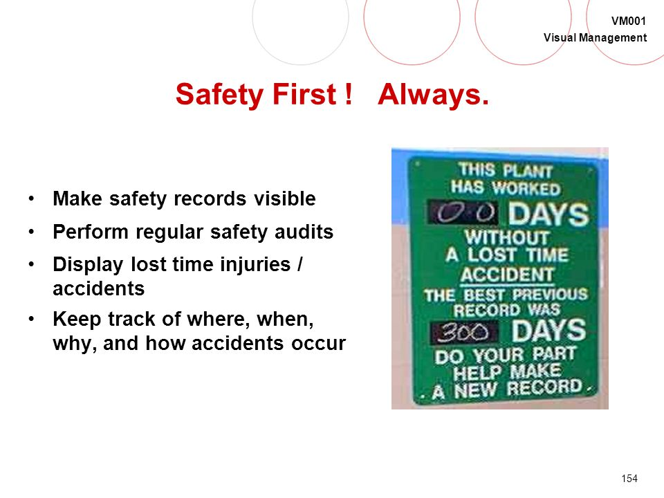 Safety First ! Always. Make safety records visible
