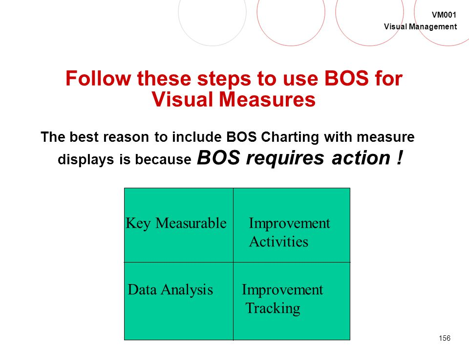 Follow these steps to use BOS for Visual Measures