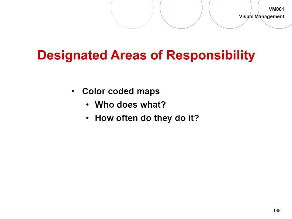 Designated Areas of Responsibility