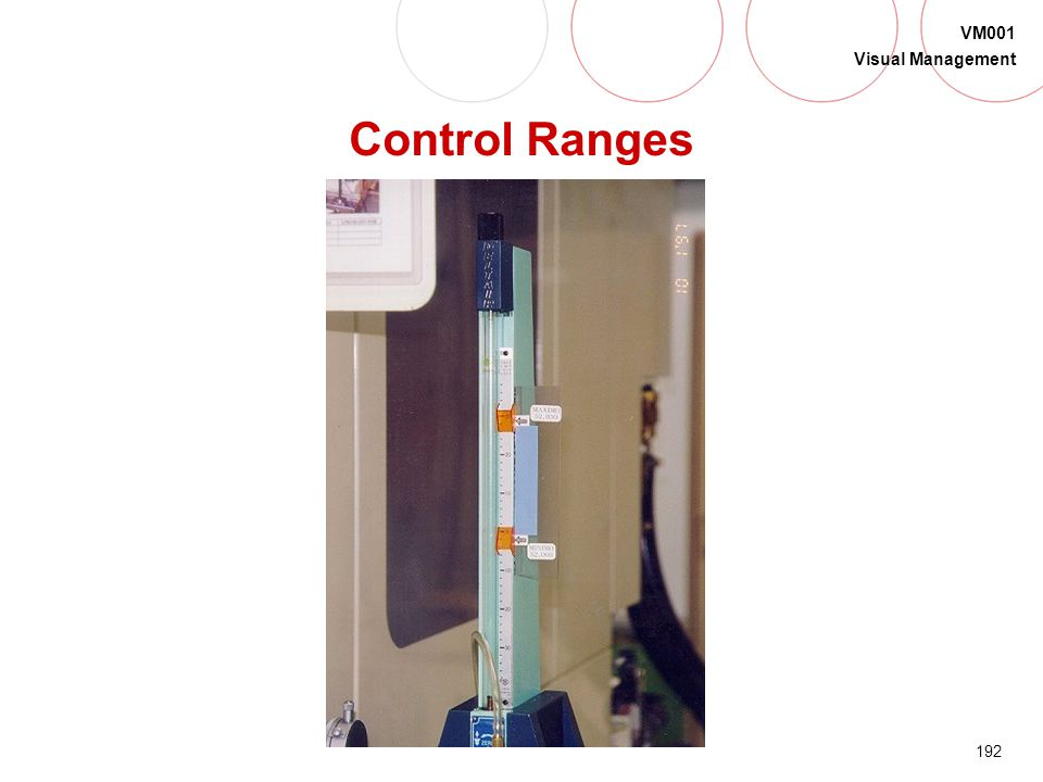 Control Ranges What could you use control ranges on