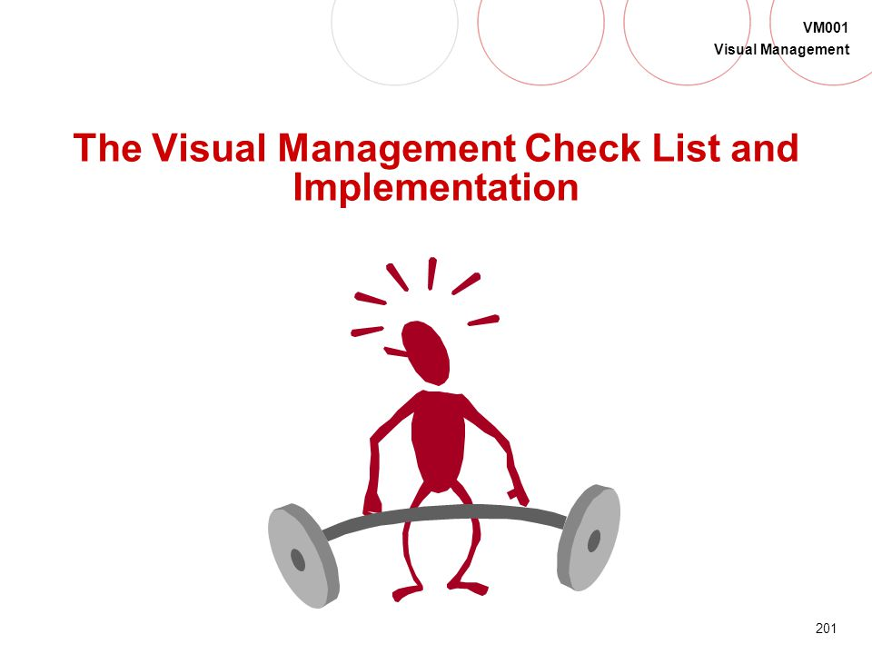 The Visual Management Check List and Implementation
