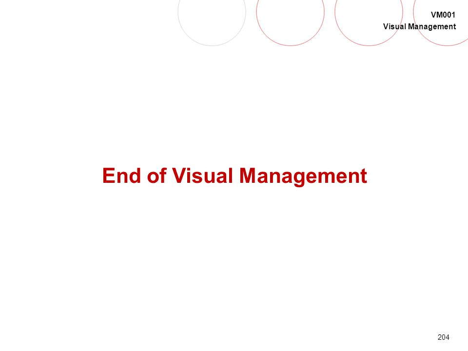End of Visual Management