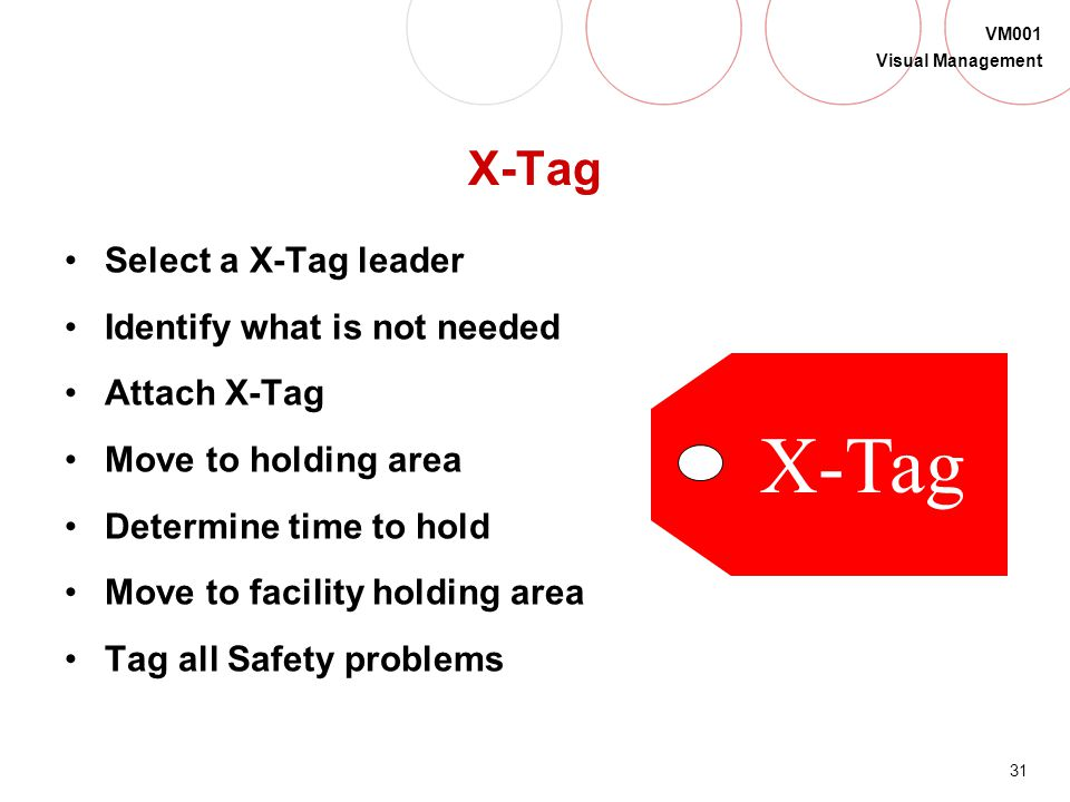 X-Tag X-Tag Select a X-Tag leader Identify what is not needed