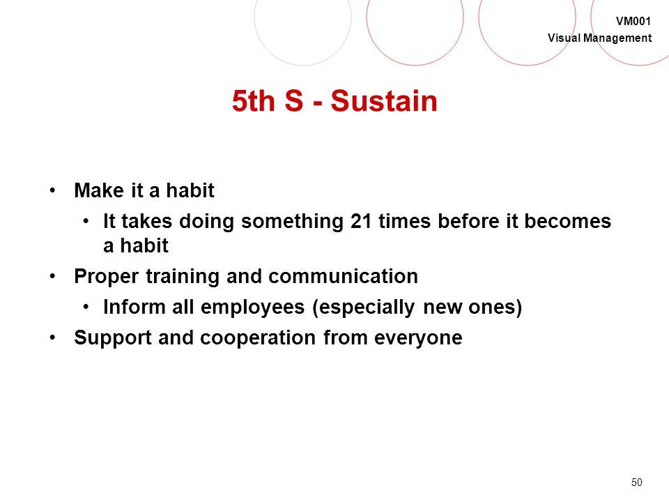 5th S - Sustain Make it a habit