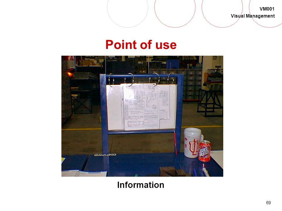 Point of use Information