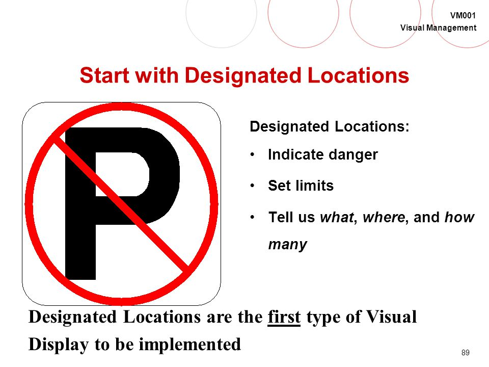 Start with Designated Locations