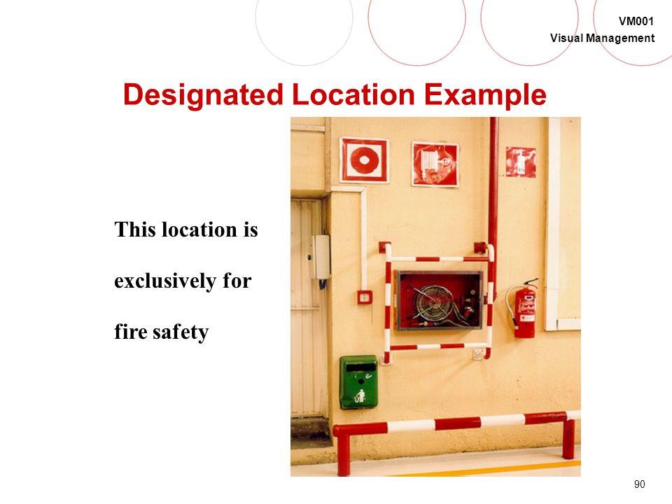 Designated Location Example