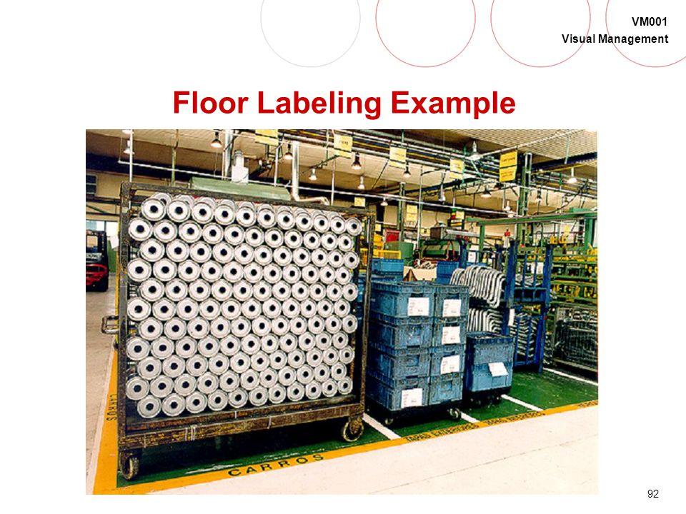 Floor Labeling Example