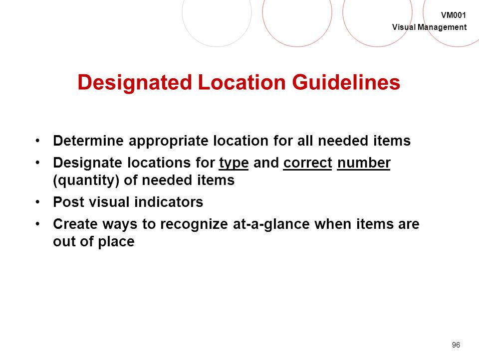 Designated Location Guidelines