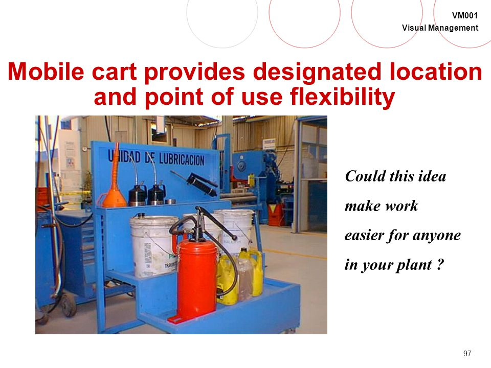 Mobile cart provides designated location and point of use flexibility