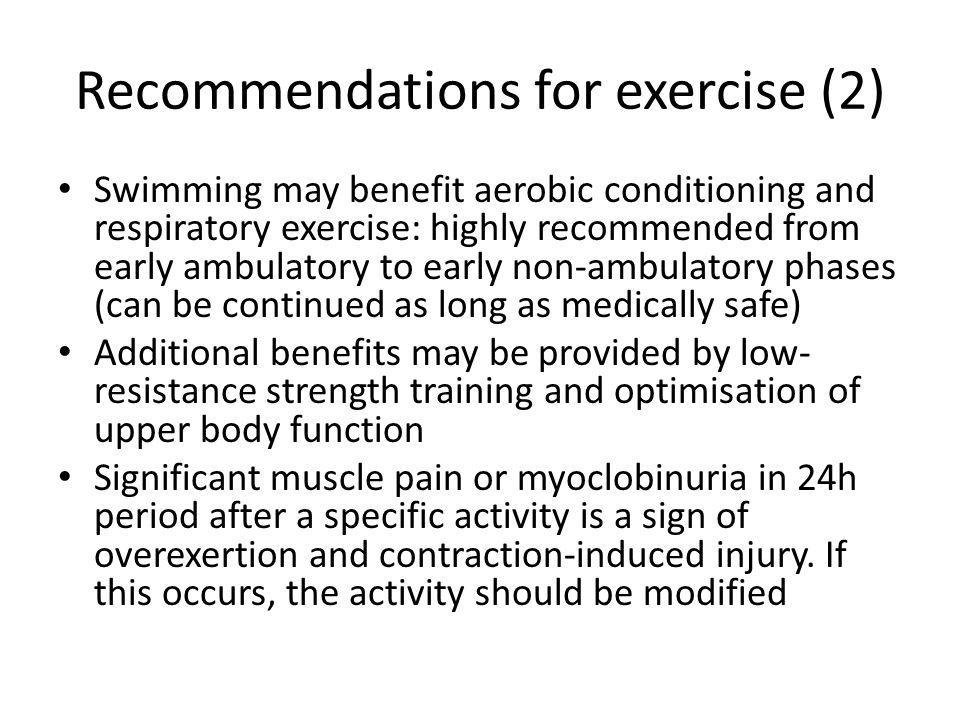 Recommendations for exercise (2)
