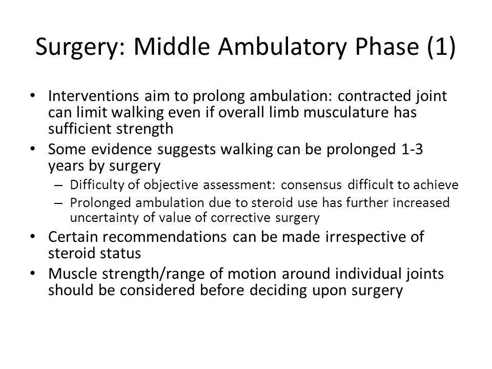 Surgery: Middle Ambulatory Phase (1)
