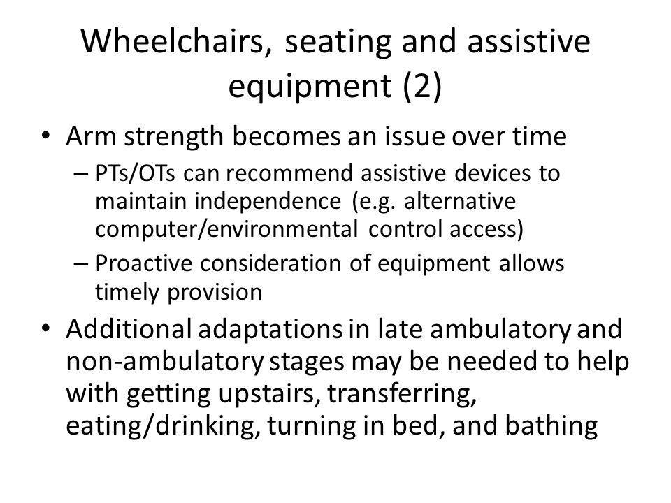 Wheelchairs, seating and assistive equipment (2)