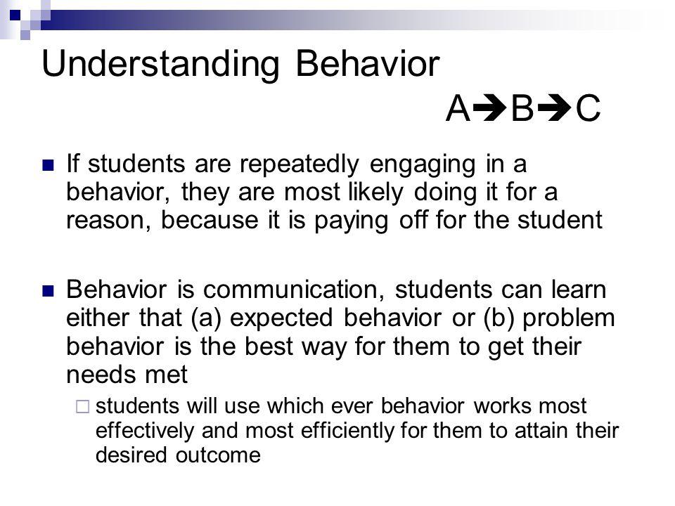 Understanding Behavior ABC
