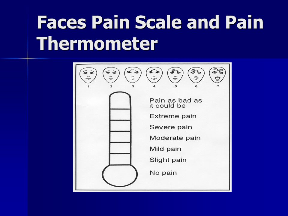 Faces Pain Scale and Pain Thermometer