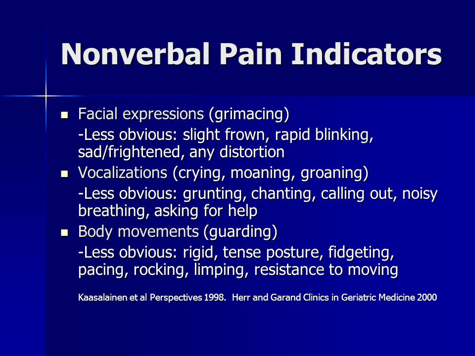 Nonverbal Pain Indicators