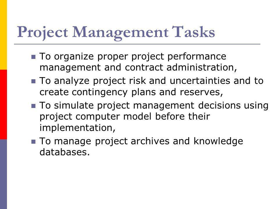 Project Management Tasks