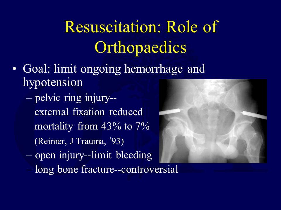 Resuscitation: Role of Orthopaedics