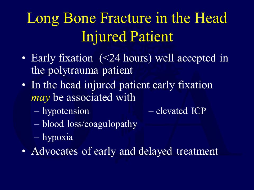Long Bone Fracture in the Head Injured Patient