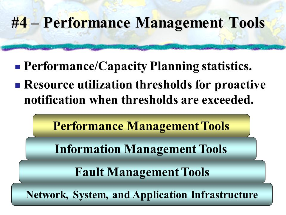 #4 – Performance Management Tools