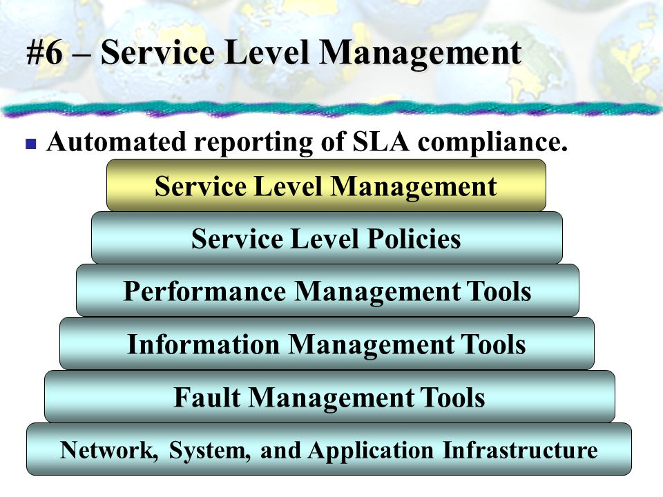 #6 – Service Level Management