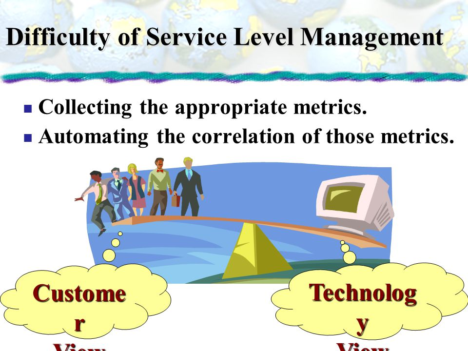 Difficulty of Service Level Management