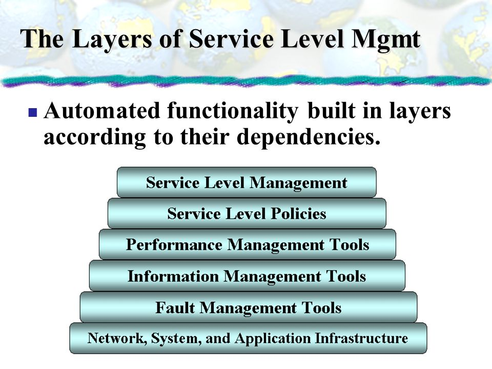The Layers of Service Level Mgmt