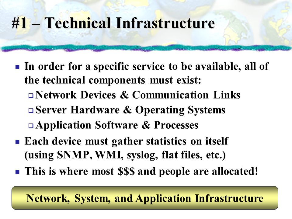 #1 – Technical Infrastructure