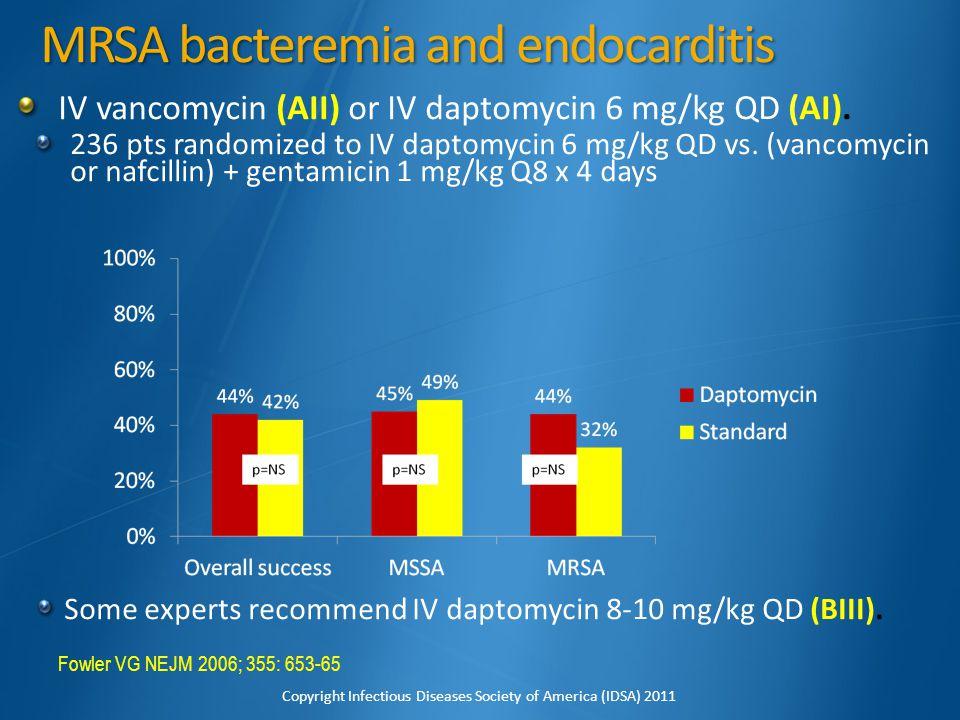 MRSA bacteremia and endocarditis