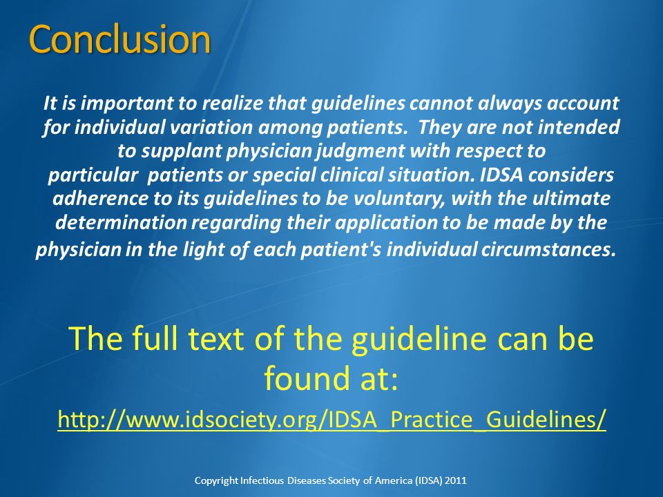 The full text of the guideline can be found at: