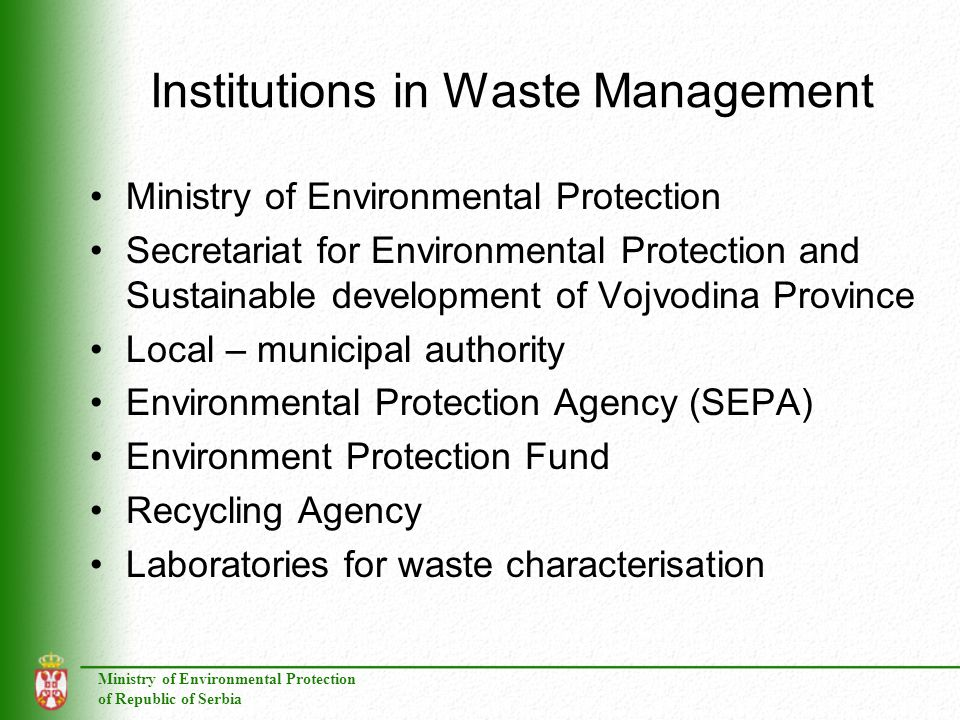 Institutions in Waste Management