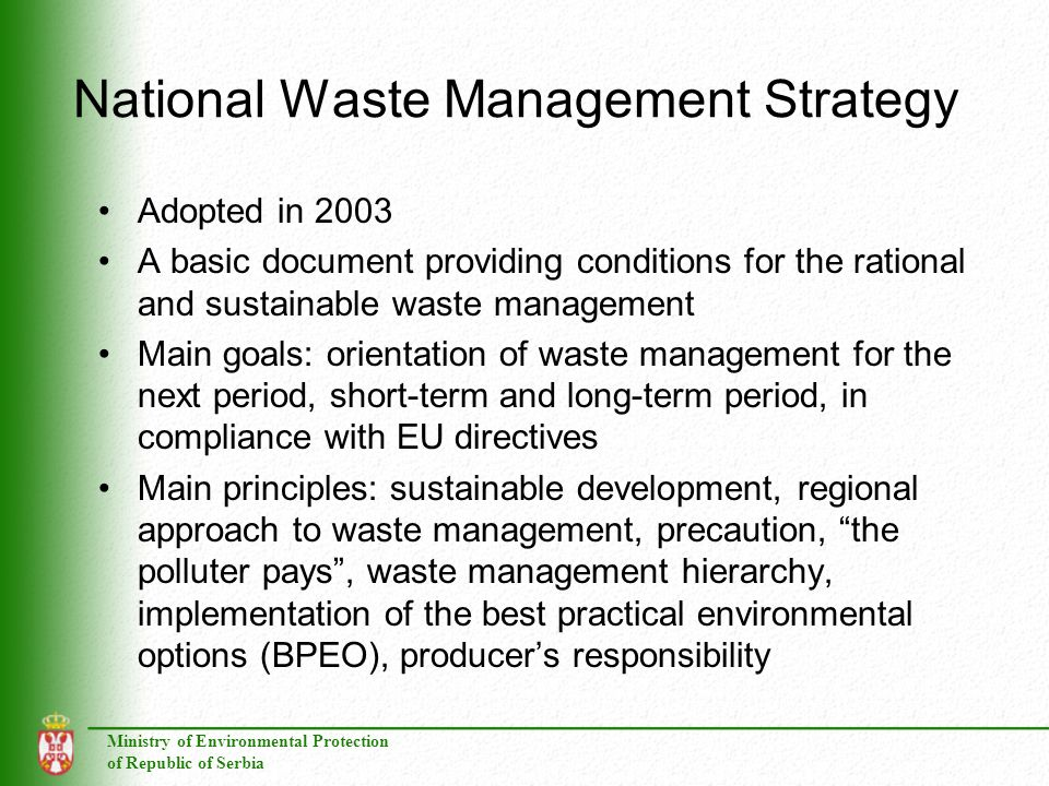 National Waste Management Strategy