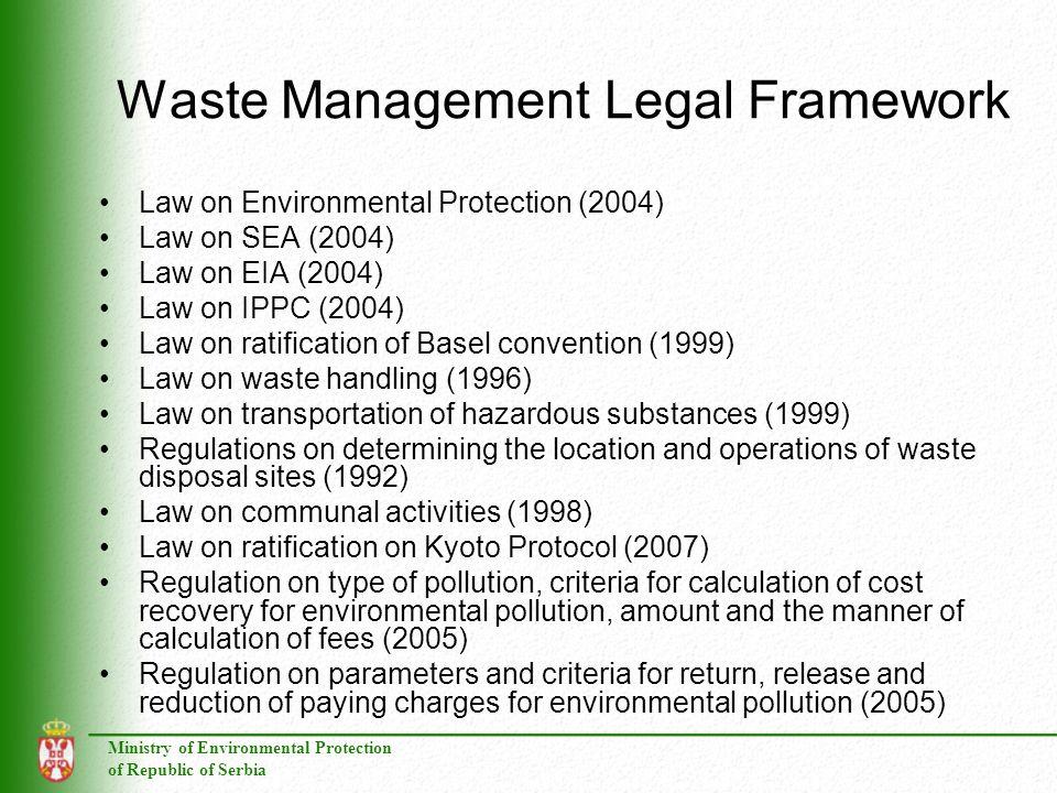 Waste Management Legal Framework