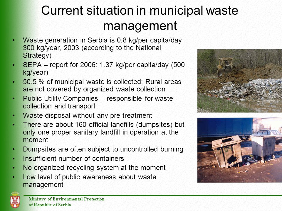 Current situation in municipal waste management