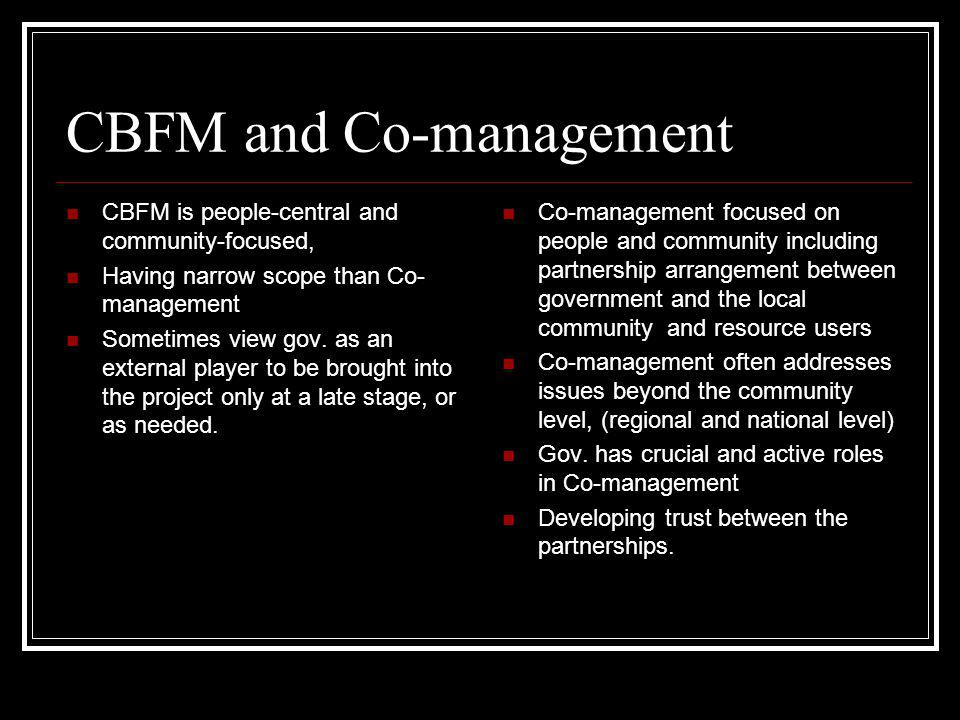 CBFM and Co-management