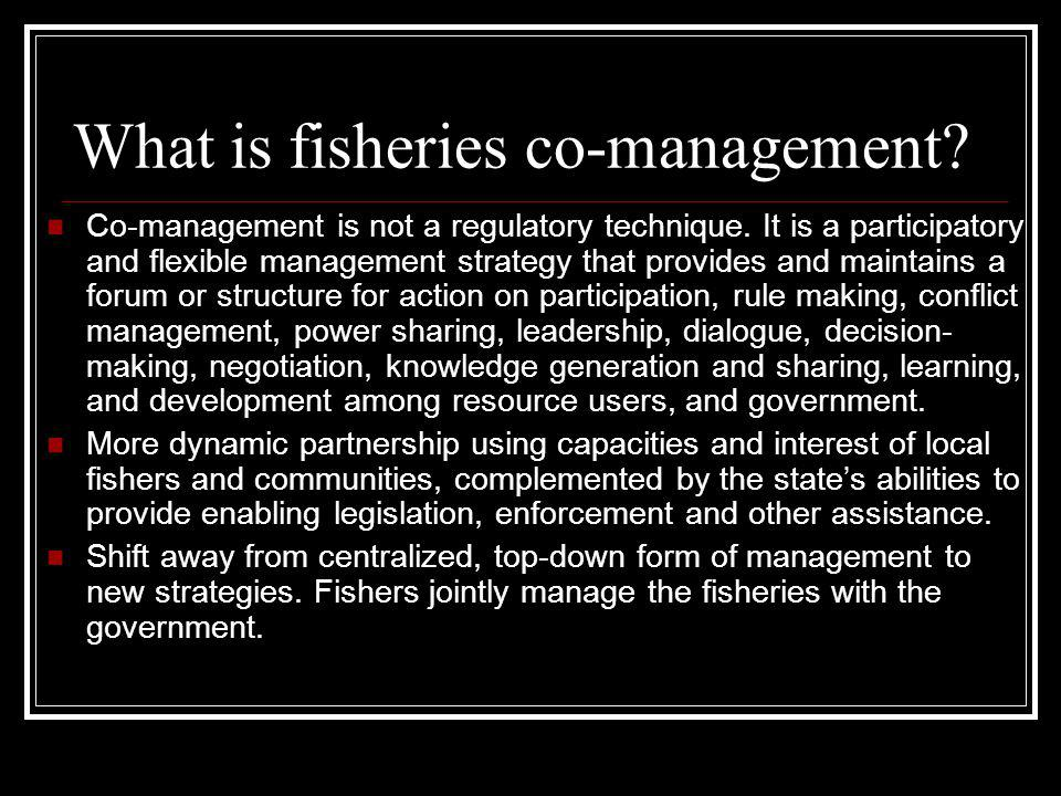 What is fisheries co-management